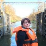 Mélanie sur le pont arrière