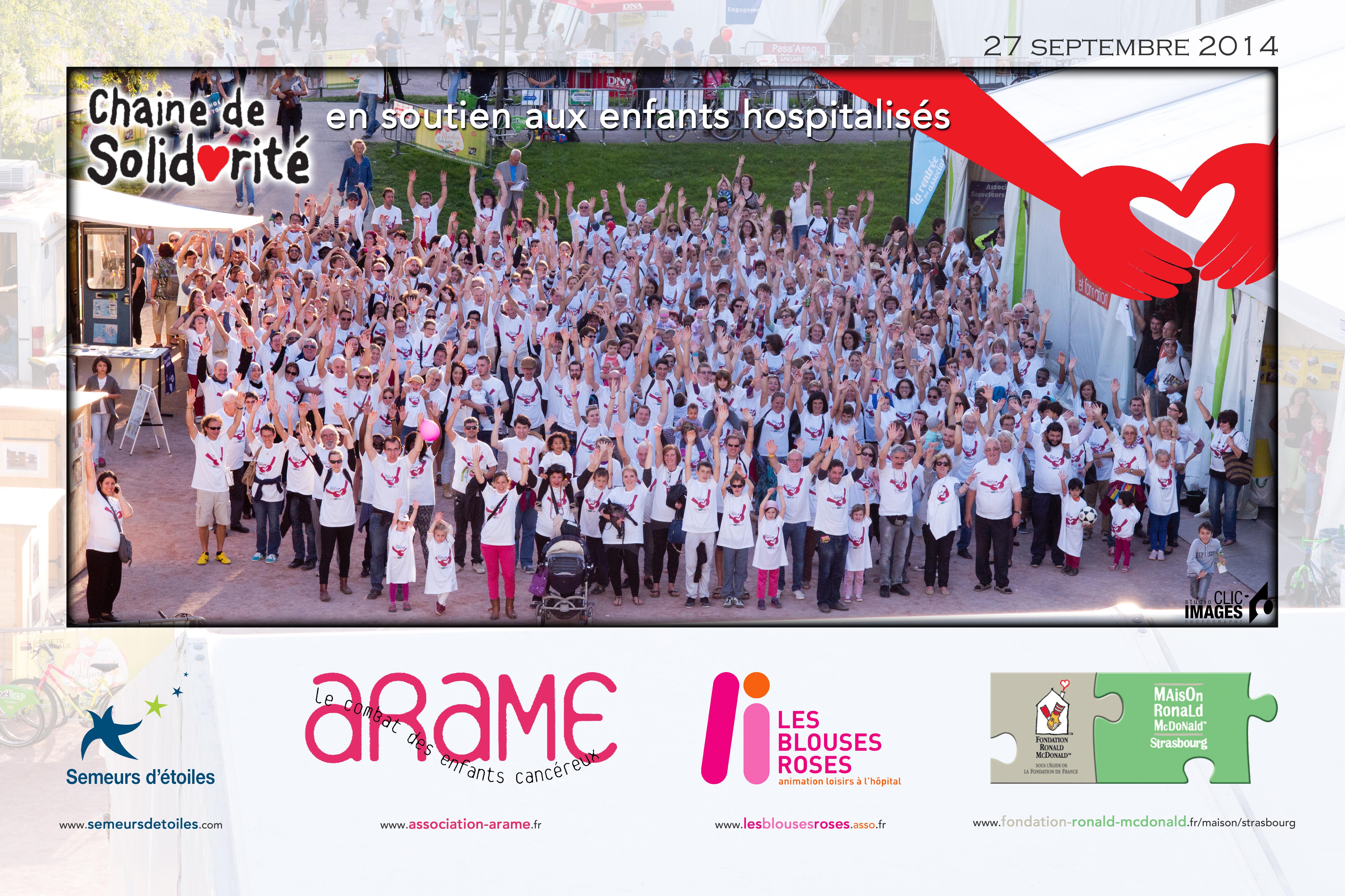 chaine de solidarité 2014 - Strasbourg